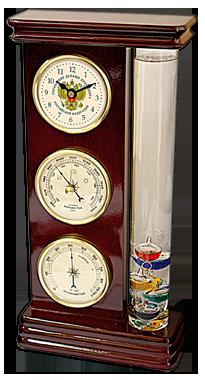 Настольные часы (метеостанция) с логотипом