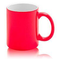 Фото Кружка керамическая для сублимации, хамелеон, красная