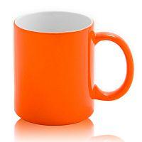Фото Кружка керамическая для сублимации, хамелеон, оранжевая