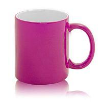Фото Кружка керамическая для сублимации, хамелеон, розовая