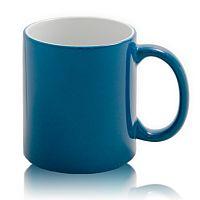 Фото Кружка керамическая для сублимации, хамелеон, синяя