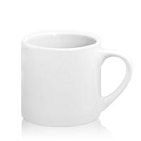 Фото Кружка керамическая белая кофейная малая для сублимации