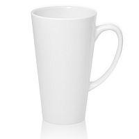 Фото Кружка керамическая белая, конусная высокая для сублимации