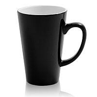 Фото Кружка керамическая хамелеон высокая для сублимации, цвет черный