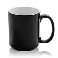 Фото Кружка керамическая хамелеон конусная высокая для сублимации, цвет черный