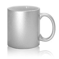 Фото Кружка керамическая серебряная для сублимации