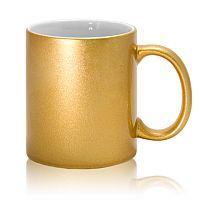 Фото Кружка керамическая золотая для сублимации