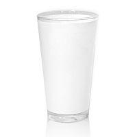 Фото Кружка латте высокая, стеклянная матовая для сублимации