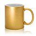 Фото Кружка керамическая золотая, серебрянная для сублимации