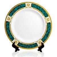 Фото Тарелка керамическая с зеленым ободком