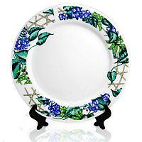 Фото Тарелка керамическая синий обод